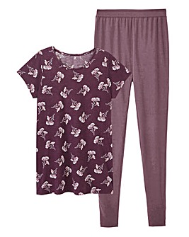 Pretty Secrets Berry Floral Legging Set