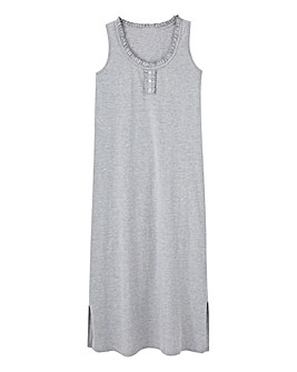 Pretty Secrets Grey Marl Maxi Nightie