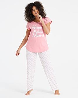 Pretty Secrets Mum Motif Pyjama Set
