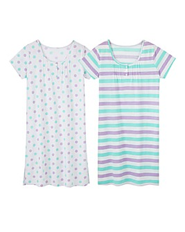 Pretty Secrets Pack of 2 Print Nighties