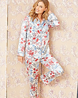 Pretty Secrets Satin Floral Pyjama Set