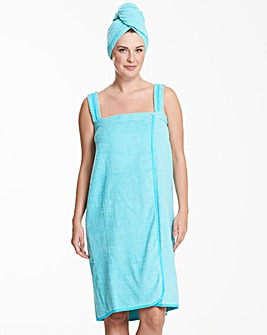 Pretty Secrets Towelling Wrap & Turban
