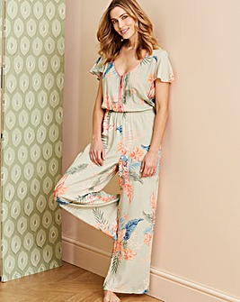 Pretty Secrets Tropic Frill Jumpsuit