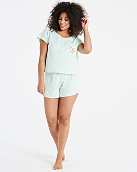Pretty Secrets Mint Embroidered Playsuit