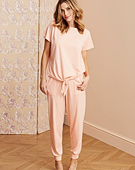 Pretty Secrets Tie Top Peach Lounge Set