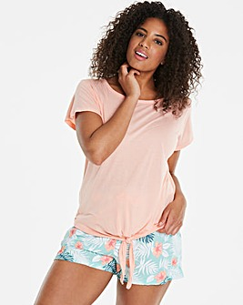 Pretty Secrets Tie Top Shortie Set