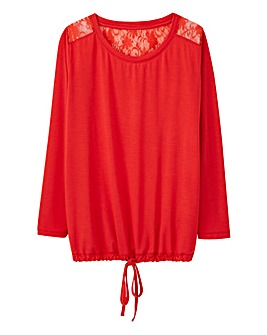 Pretty Secrets Lace Back Oversized Top