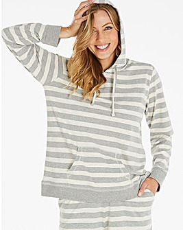 Pretty Secrets Soft Stripe Lounge Hoodie