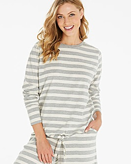 Pretty Secrets Soft Stripe Lounge Top