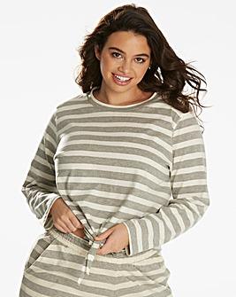 Pretty Secrets Soft Stripe Lounge Top