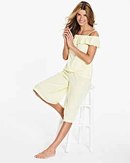 Pretty Secrets Frill Culotte Pyjama Set