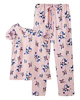 Pretty Secrets Floral Satin Pyjama Set
