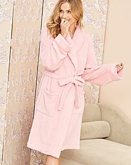Pretty Secrets Fluffy Fleece Waffle Gown