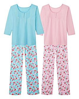 Pretty Secrets 2PK 3/4 Sleeve PJ Sets