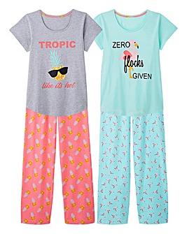 Pretty Secrets 2 Pack L/S Pyjama Set