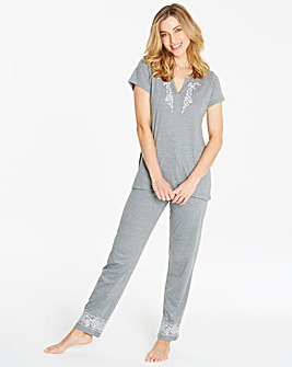 Pretty Secrets Embroidered Pyjama Set