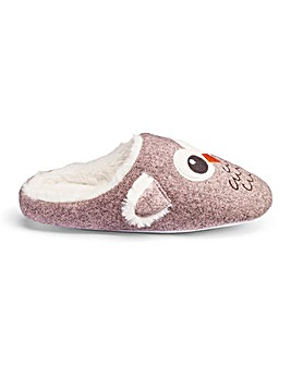 Heavenly Soles Owl Mule Slippers E Fit