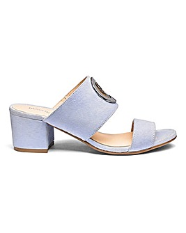 Heavenly Soles Suede Mules E Fit