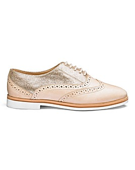 Heavenly Soles Leather Brogues EEE Fit