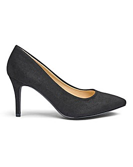 Pointed Toe Court Shoes EEE Fit