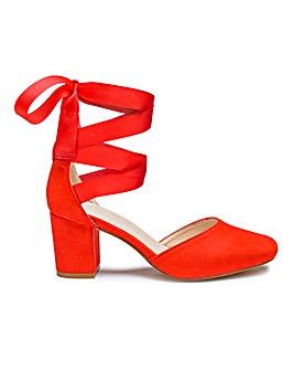 Heavenly Soles Leg Tie Shoes E Fit