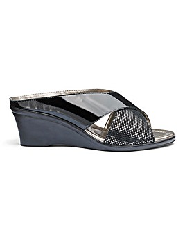 Lotus Leather Wedge Sandals EEE Fit