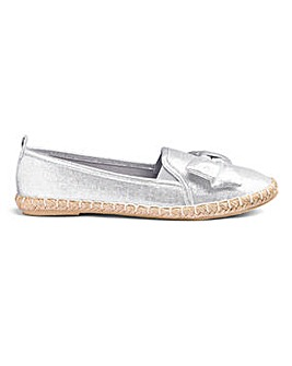Heavenly Soles Bow Espadrilles E Fit