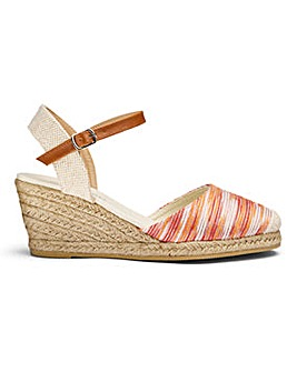 Heavenly Soles Wedge Espadrilles EEE Fit