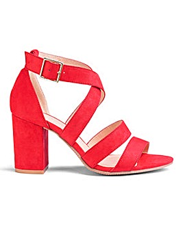 Flexi Sole Block Heel Sandals E Fit