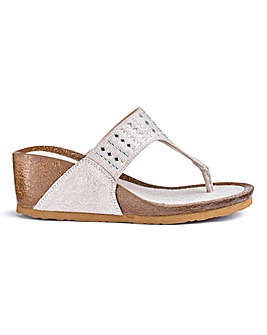 Heavenly Soles Wedge Sandals E Fit