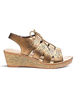 Heavenly Soles Ghillie Sandals EEE Fit
