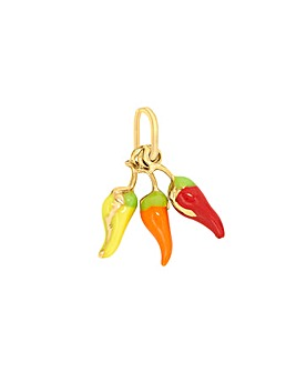 9Ct Gold Enamel Chillies Charm