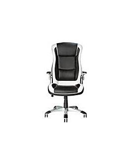 Dexter Height Adjust Chair - Black/White
