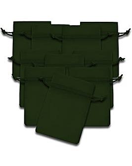 Organza Favor Bags Green x 10
