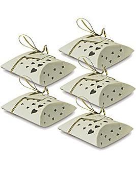 Pillow Box Heart Favor Boxes x 10