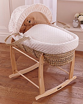 Clair de Lune Dimple Palm Moses Basket