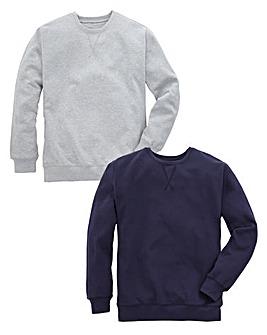 Capsule Pack of 2 Crew Neck Sweatshirts