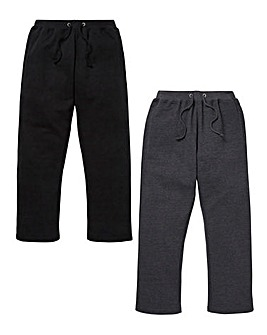 Capsule Pack of 2 Open Hem Joggers 29in