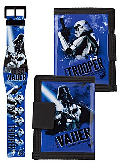 STAR WARS LCD WATCH & WALLET SET