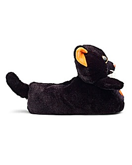 Cat Novelty Slipper Wide Fit