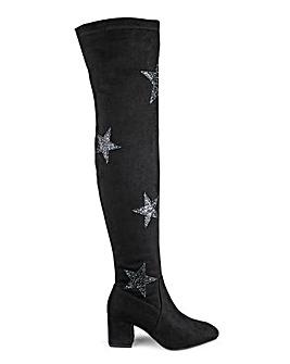 Daisy Street Star Over The Knee Boot