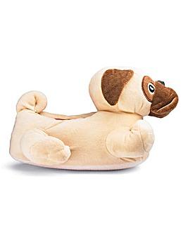 Santa Pug Novelty Slipper Wide Fit