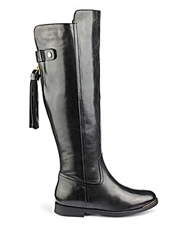 Katie Leather Boot Super Curvy E Fit
