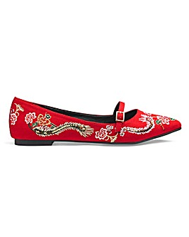 Monica Embroidered Shoe E Fit