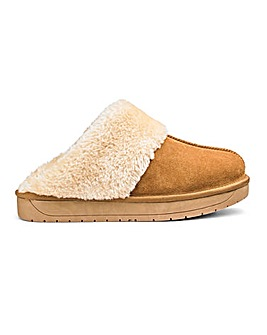 Suede Mule Slippers E Fit