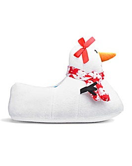 Snowlady 3D Novelty Slippers Wide Fit