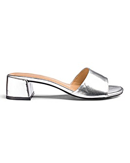 Athena Low Block Mule Wide Fit