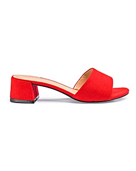Athena Low Block Mule Extra Wide Fit