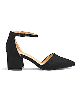 Clio Pointed Block Heels Extra Wide Fit