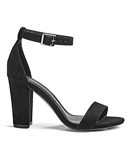 Alana Block Heel Barely There Wide Fit